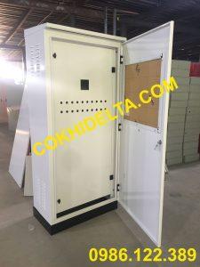Vỏ Tủ Điện Ngoài Trời 1800x800x450 Hai Lớp Cánh Sơn Màu Trắng Sứ Tại Hà Nội