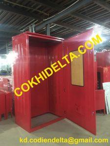 Báo Giá Vỏ Tủ Điện Ngoài Trời 2400x1200x800 Màu Đỏ